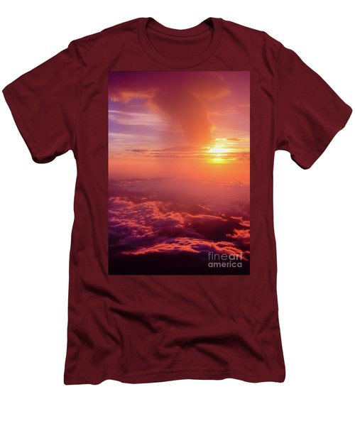 Mountain View Men's T-Shirt (Slim Fit) by Tatsuya Atarashi
