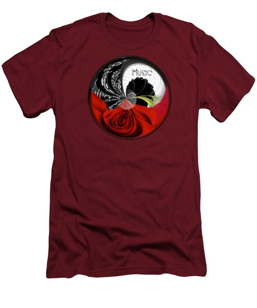 Men's T-Shirt (Slim Fit) featuring the photograph Musical Orb by Phyllis Denton