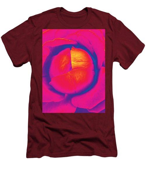 Neon Lettuce Rose Men's T-Shirt (Athletic Fit)