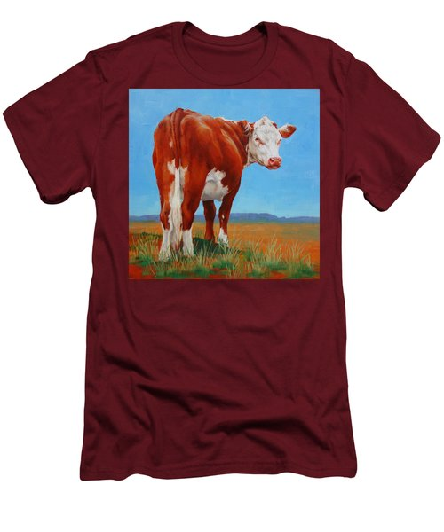 New Horizons Undecided Men's T-Shirt (Slim Fit) by Margaret Stockdale