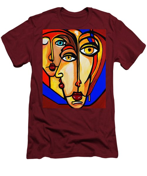 New Picasso By Nora Friends Men's T-Shirt (Slim Fit) by Nora Shepley
