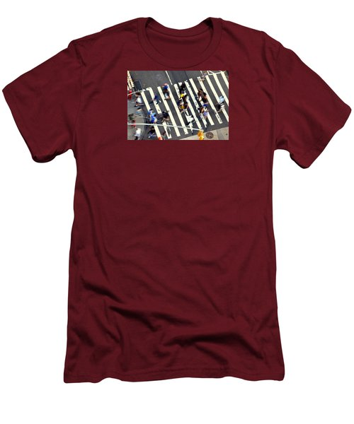 New York Minute Men's T-Shirt (Slim Fit) by David Gilbert