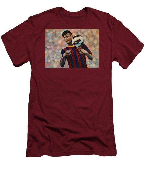 Neymar Men's T-Shirt (Slim Fit) by Paul Meijering
