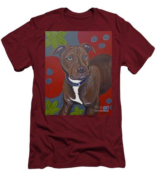 Niko The Pit Bull Men's T-Shirt (Slim Fit) by Ania M Milo