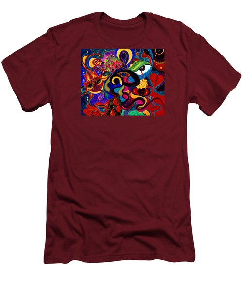 Tears Of Blood Men's T-Shirt (Slim Fit) by Marina Petro