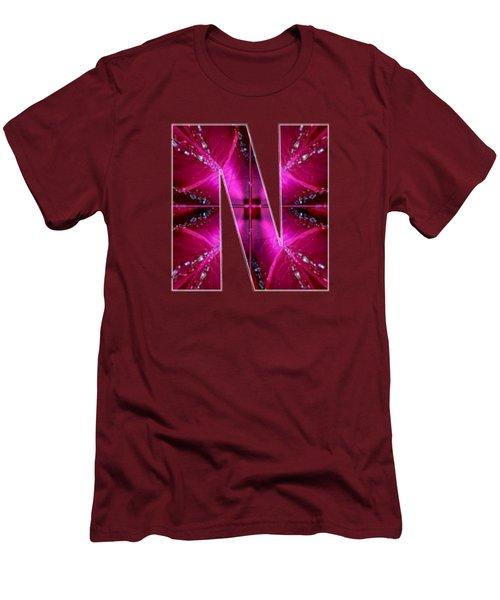 Nnn Nn N  Alpha Art On Shirts Alphabets Initials   Shirts Jersey T-shirts V-neck By Navinjoshi Men's T-Shirt (Slim Fit) by Navin Joshi
