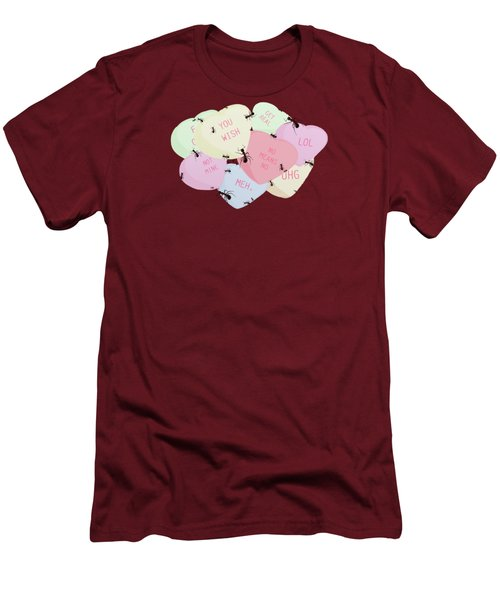 No Love Here Men's T-Shirt (Slim Fit) by Priscilla Wolfe