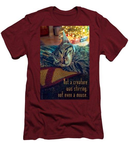 Not A Creature Was Stirring Men's T-Shirt (Slim Fit) by Debbie Karnes