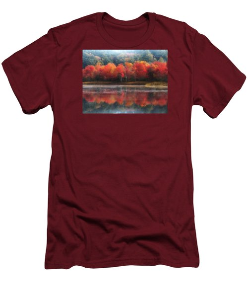 October Trees - Autumn  Men's T-Shirt (Slim Fit) by MTBobbins Photography