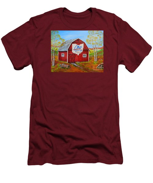Ohio Bicentennial Barns 2 Men's T-Shirt (Athletic Fit)