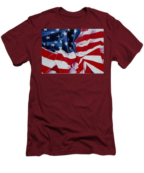 Old Glory  1 Men's T-Shirt (Athletic Fit)