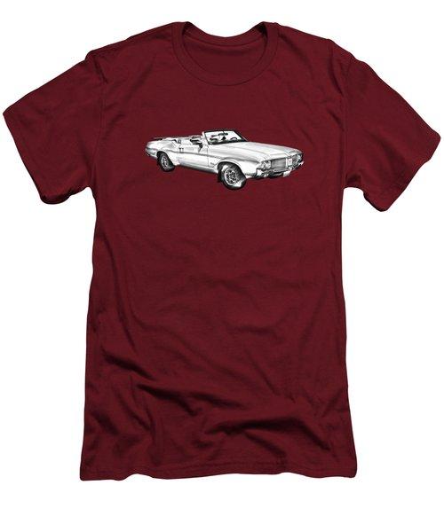 Oldsmobile Cutlass Supreme Muscle Car Illustration Men's T-Shirt (Slim Fit) by Keith Webber Jr