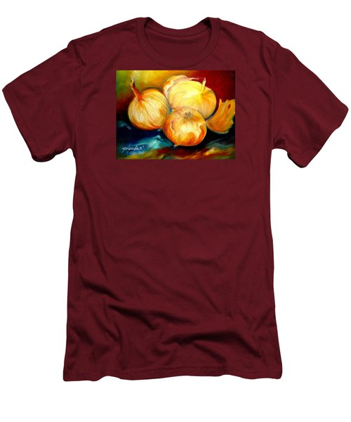 Onions Men's T-Shirt (Slim Fit) by Yolanda Rodriguez