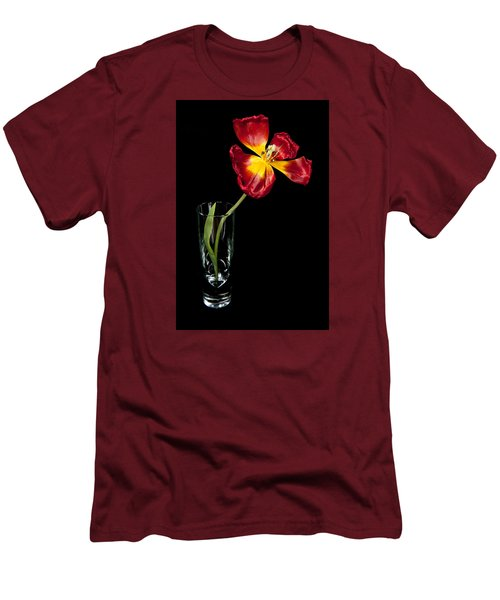 Open Red Tulip In Vase Men's T-Shirt (Athletic Fit)
