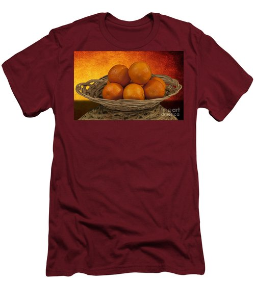 Orange Basket Men's T-Shirt (Slim Fit)
