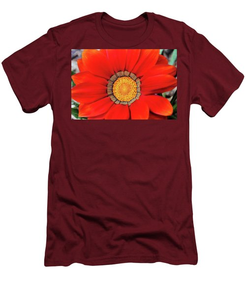Orange Gazania With Texture Men's T-Shirt (Slim Fit) by Trina Ansel