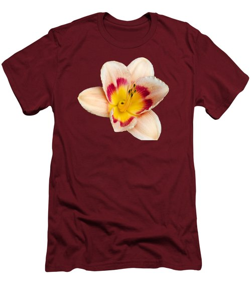Orange Yellow Lilies Men's T-Shirt (Slim Fit) by Christina Rollo