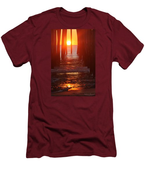 Orb On The Water Men's T-Shirt (Slim Fit) by Robert Banach