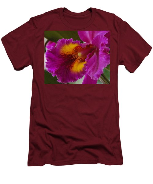 Men's T-Shirt (Slim Fit) featuring the photograph Orchid In The Wild by Debbie Karnes