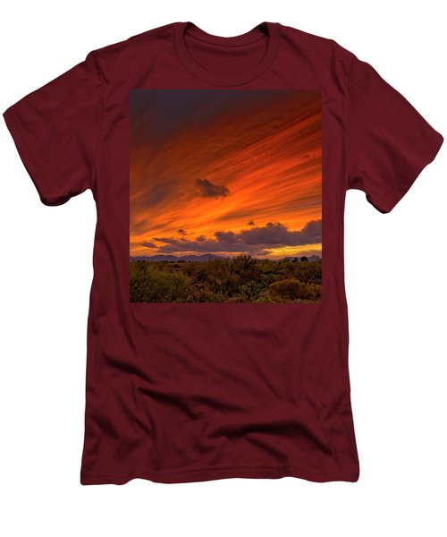 Men's T-Shirt (Athletic Fit) featuring the photograph Oro Valley Sunset H6 by Mark Myhaver