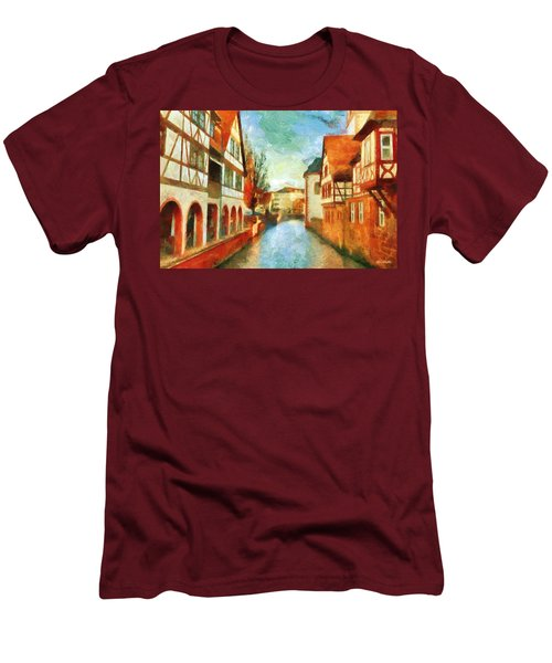 Men's T-Shirt (Athletic Fit) featuring the digital art Ortschaft by Greg Collins