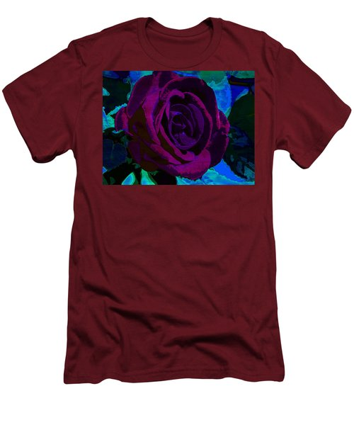 Painted Rose Men's T-Shirt (Slim Fit) by Samantha Thome