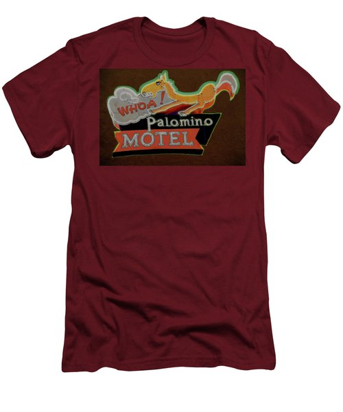 Men's T-Shirt (Slim Fit) featuring the photograph Palomino Motel by Jeff Burgess