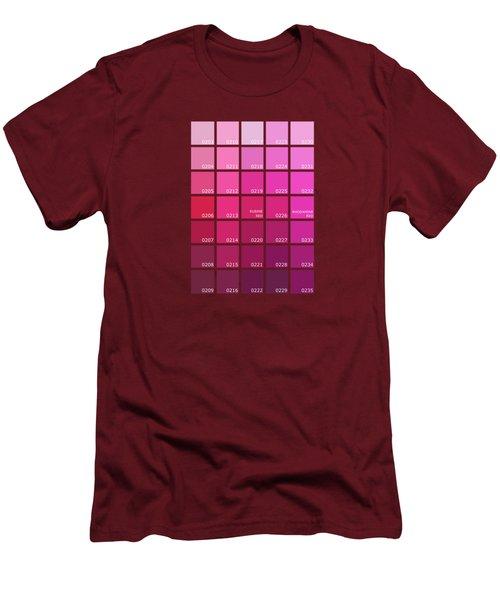 Pantone Shades Of Pink Men's T-Shirt (Athletic Fit)