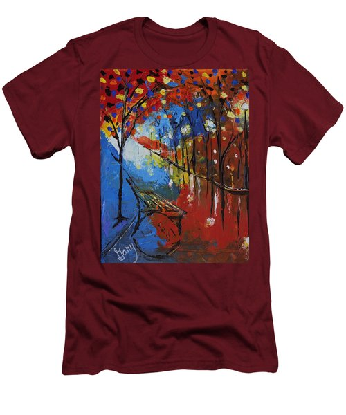 Park Bench Men's T-Shirt (Slim Fit) by Gary Smith