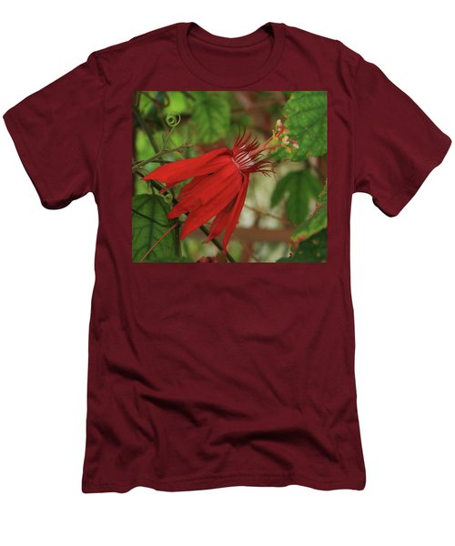 Men's T-Shirt (Slim Fit) featuring the photograph Passion by Marna Edwards Flavell