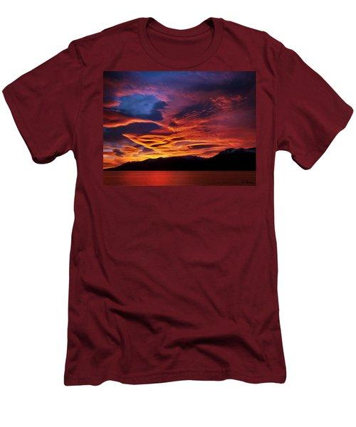 Patagonian Sunrise Men's T-Shirt (Slim Fit) by Joe Bonita