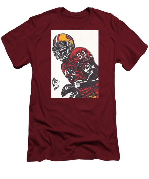 Men's T-Shirt (Slim Fit) featuring the drawing Patrick Willis by Jeremiah Colley
