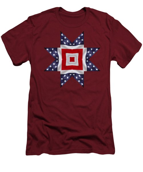 Patriotic Star 1 - Transparent Background Men's T-Shirt (Slim Fit) by Jeff Kolker