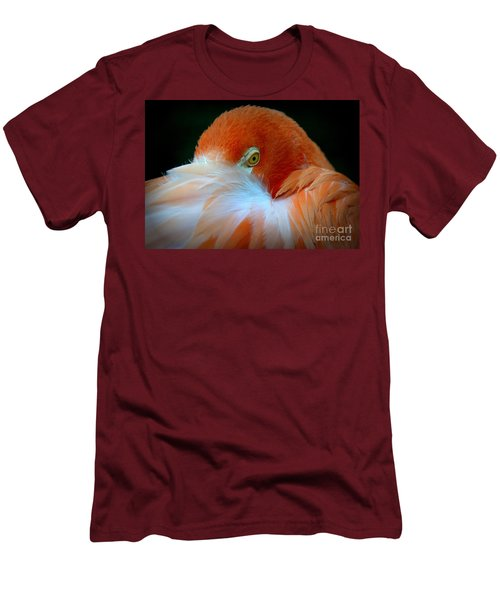 Men's T-Shirt (Slim Fit) featuring the photograph Peek-a-boo by Lisa L Silva