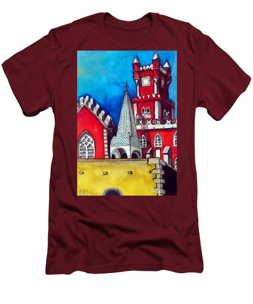 Pena Palace In Portugal Men's T-Shirt (Slim Fit) by Dora Hathazi Mendes