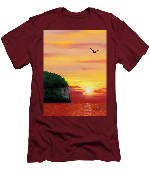 Peninsula Park Sunset Men's T-Shirt (Athletic Fit)