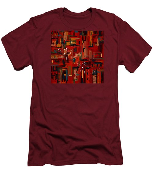 Men's T-Shirt (Slim Fit) featuring the painting Penman Original-233 by Andrew Penman