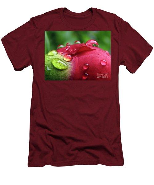 Peony Drops 2 Men's T-Shirt (Athletic Fit)