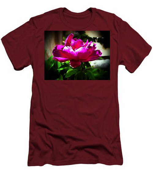 Men's T-Shirt (Slim Fit) featuring the photograph Peony by Joseph Frank Baraba