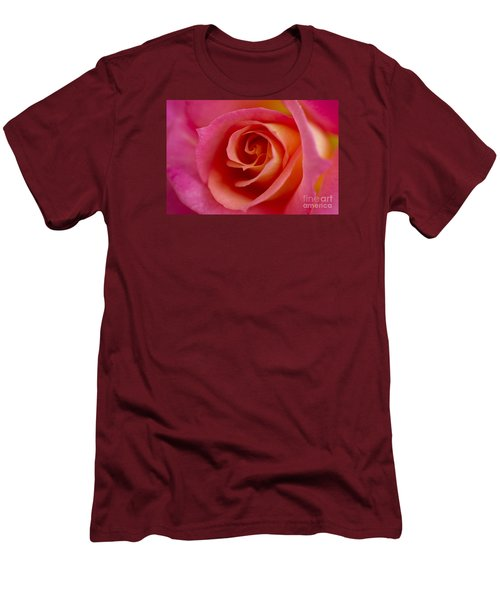 Men's T-Shirt (Slim Fit) featuring the photograph Perfect Moment Rose by Jeanette French
