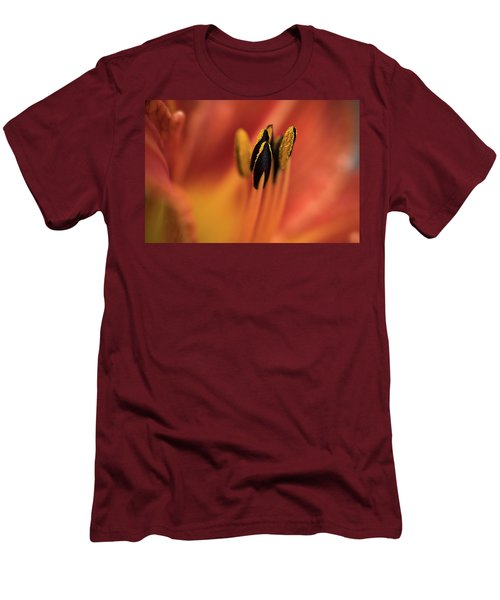 Persimmon Lilly Men's T-Shirt (Slim Fit) by Deborah Scannell