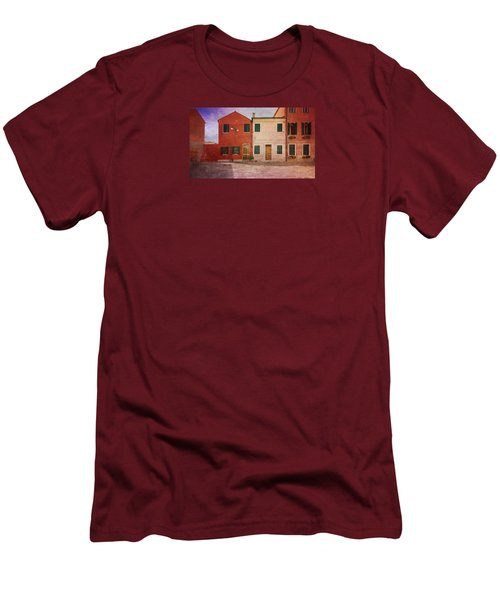 Men's T-Shirt (Slim Fit) featuring the photograph Pink Houses by Anne Kotan