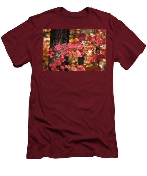 Men's T-Shirt (Athletic Fit) featuring the photograph Pink Maple  by Saija Lehtonen