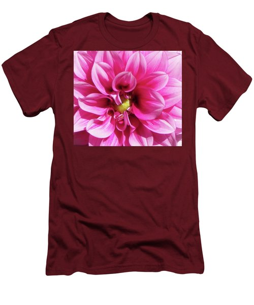 Pink Summer Flower Macro Men's T-Shirt (Athletic Fit)