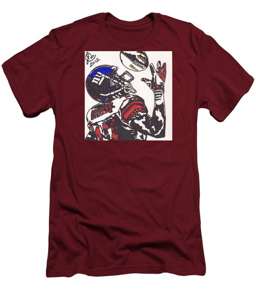 Men's T-Shirt (Slim Fit) featuring the drawing Plexico Burress by Jeremiah Colley
