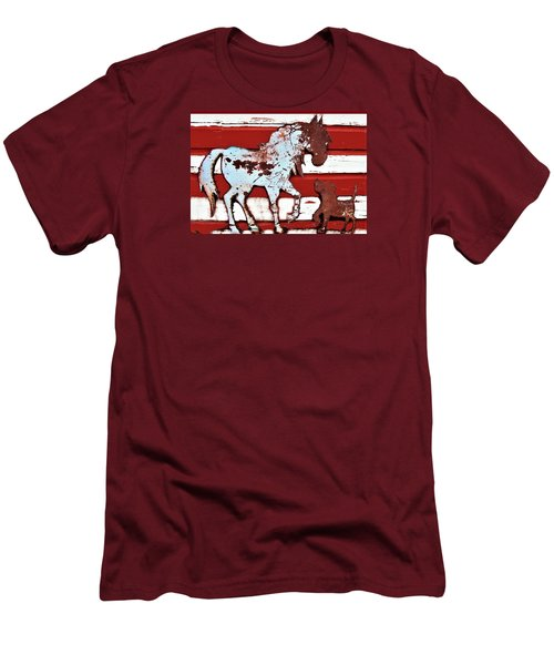 Pony And Pup 3 Men's T-Shirt (Athletic Fit)