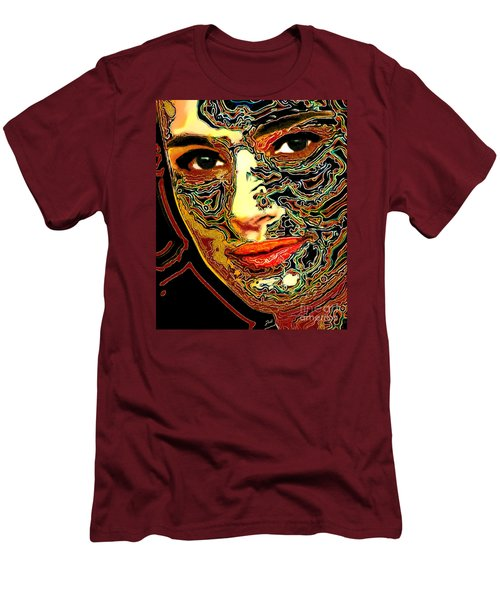 Portrait Of Natalie Portman Men's T-Shirt (Slim Fit) by Zedi