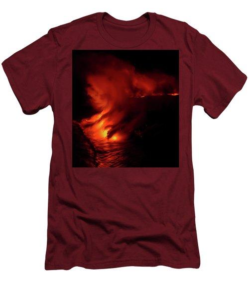 Men's T-Shirt (Slim Fit) featuring the photograph Predawn Pouroff by Allen Biedrzycki