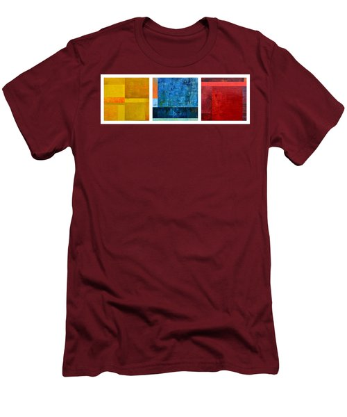 Men's T-Shirt (Athletic Fit) featuring the painting Primary - Artprize 2017 by Michelle Calkins