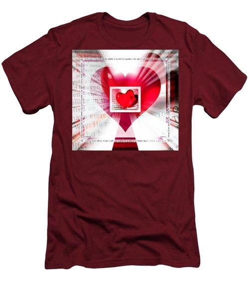 Psalm 19 Meditating Men's T-Shirt (Athletic Fit)